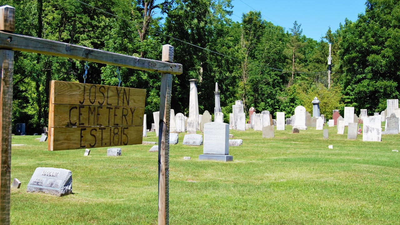 GOOD SPOTS: Joslyn Cemetery in Oaks Corners, small, quaint, and peaceful
