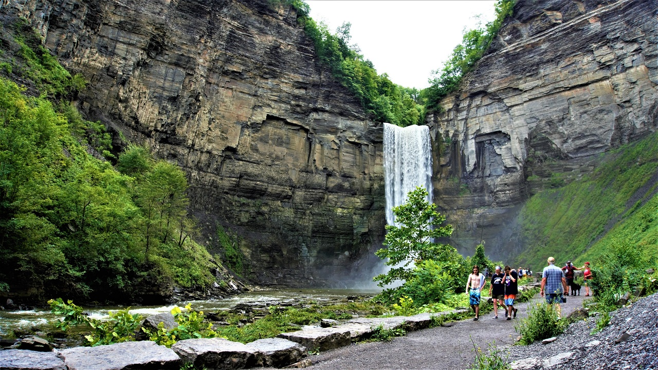 GOOD SPOTS: Taughannock Falls State Park; easy hike with a beautiful view