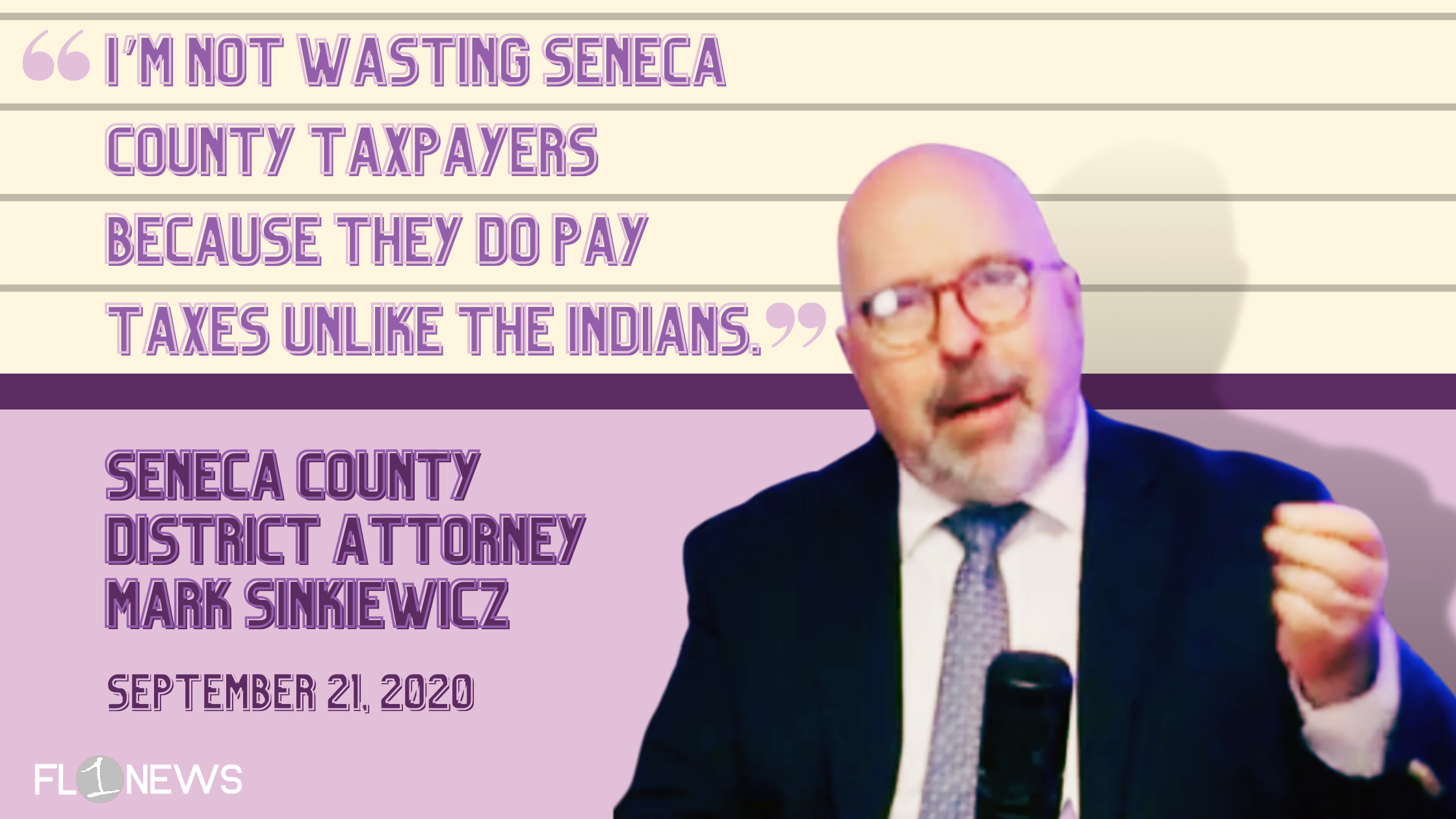"""Sinkiewicz: If Bowman """"had a Native American name, we wouldn't even be talking about it,"""" shocking recorded conversation with Seneca County DA surfaces"""